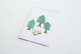 Papiernictvo - Pozdrav líška v lese - 10573094_