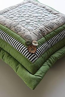 Úžitkový textil - Vankúše - prequiltované - 10574796_