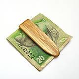 Drevená spona na peniaze - agátová