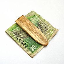 Tašky - Drevená spona na peniaze - agátová - 10574137_