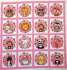 Textil - Bavlněný panel i na pexeso 47x47cm  NPG37 - 10578201_