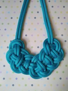 Náhrdelníky - Lanový náhrdelník tyrkys - 10575746_