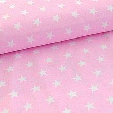 Detské doplnky - Ružová s bielymi hviezdami - 10575651_