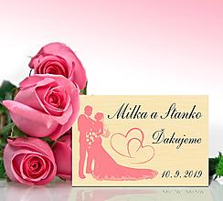Darčeky pre svadobčanov - Svadobná magnetka - 10577422_