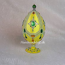 Dekorácie - Vajíčko so stojanom - Emerald - 10575500_