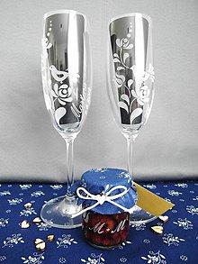 Nádoby - Svadobné poháre, folk 2 - 10575735_
