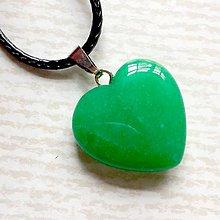 Náhrdelníky - Simple Gemstone Heart Necklace / Náhrdelník srdce s minerálom #2055 (Zelený jadeit farbený) - 10575548_