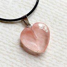 Náhrdelníky - Simple Gemstone Heart Necklace / Náhrdelník srdce s minerálom #2055 (Cherry krištáľ synt.) - 10575551_