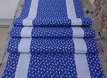 Úžitkový textil - Stredový obrus - motív modrotlač - 10578138_
