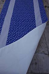Úžitkový textil - Stredový obrus - motív modrotlač - 10578140_