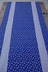 Úžitkový textil - Stredový obrus - motív modrotlač - 10578141_