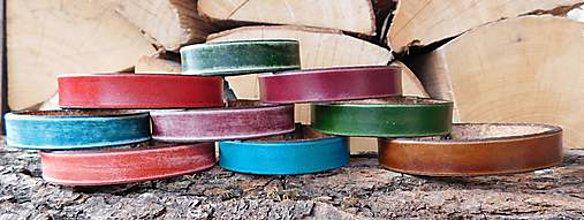 Náramky - Kožený náramok - Farebné - 10577428_