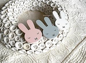 Magnetky - dekor zajko - 10576947_