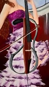 Obrazy - Žena s violončelom - 10577599_