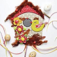 Dekorácie - Veľkonočná dekorácia / vtáčia búdka veľká - 10577132_