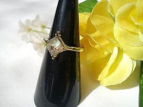 Prstene - Prsteň/vintage, Labradorit/bronz - 10577007_