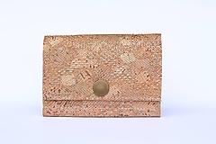 Korková peňaženka S - trblietky