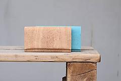 Peňaženky - Dámska dlhá korková peňaženka - natural - 10576320_