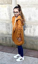 Detské oblečenie - Kardigan horčicový  - 10575752_