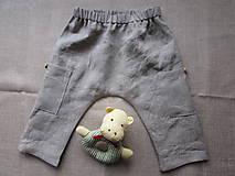 Detské oblečenie - Baby ľanové nohavice - 10576691_