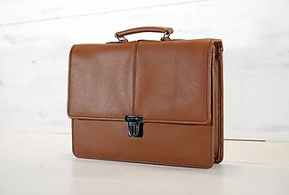 Veľké tašky - Pánska aktovka - Mikelo No.2 + peňaženka zadarmo - 10578352_