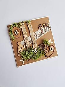 Papiernictvo - prírodná gratulačná pohľadnica k životnému jubileu  50 rokov - 10575146_