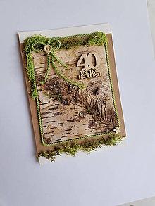 Papiernictvo - prírodná gratulačná pohľadnica k životnému jubileu  40  rokov - 10575167_