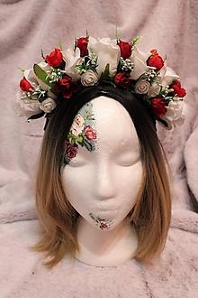 Ozdoby do vlasov - Svadobná kvetinová parta