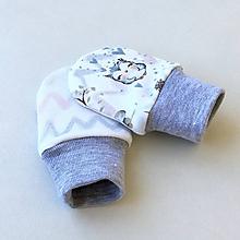 Detské doplnky - Zvířátka - kojenecké rukavičky - 10578328_