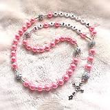 Náhrdelníky - Ruženec perl. so shamballa  (Ružový) - 10578605_
