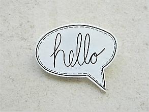 Odznaky/Brošne - hello - 10576651_