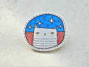 Odznaky/Brošne - Mačka hviezdnatá - 10577161_