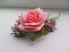 Ozdoby do vlasov - Hrebienok do vlasov  ... ružička ... - 10575848_