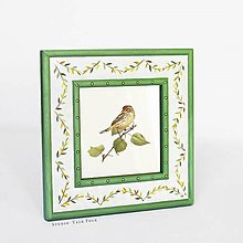 Rámiky - Ručne maľovaný rámček so zelenými lístočkami - 10575505_