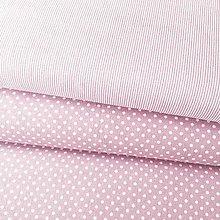 Textil - tenučké staroružové pásiky, 100 % bavlna Nemecko, šírka 140 cm - 10575805_