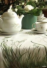 """Úžitkový textil - Maľované prestieranie (štóla) """"lúčne trávy"""" - 10576155_"""