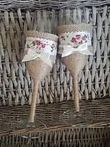 Nádoby - Svadobné poháre vidiecké - 10578611_