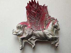 Drobnosti - Sadrová magnetka -Ohnivý kôň - 10577734_