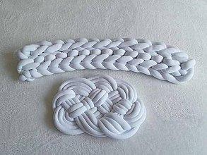 Úžitkový textil - Pletenec MANTINEL biely - 10575200_