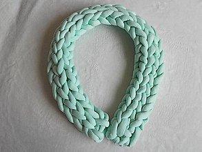 Úžitkový textil - Pletenec MANTINEL mentolový - 10575210_