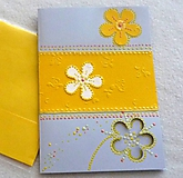Papiernictvo - Pohľadnica - žlté kvietky - 10577610_