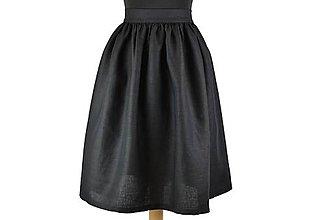Sukne - ZINA - ľanová nariasená sukňa - 10576847_