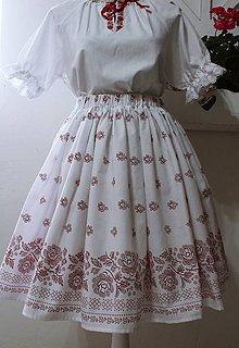 Sukne - Folklórna suknička...biela - 10577439_