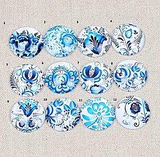 Komponenty - KA109 Kabošon modrý folk 12 mm - 10577880_