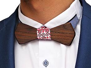 Doplnky - Svadobný drevený motýlik hranatý- smoked - 10577082_