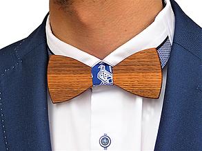 Doplnky - Svadobný drevený motýlik klasický-čerešňa - 10577157_
