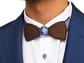 Doplnky - Svadobný drevený motýlik klasický-smoked - 10577243_