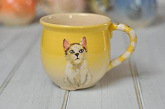 Nádoby - Hrnček mačka - 10575061_