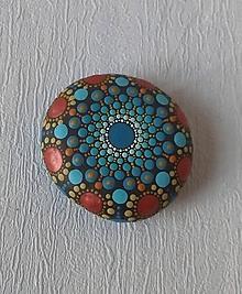 Drobnosti - Modrý či medený - Na kameni maľované - 10577866_