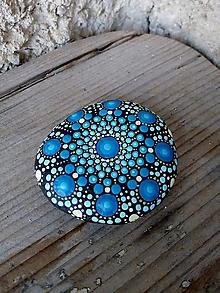 Drobnosti - Modráčik - Na kameni maľované - 10577974_